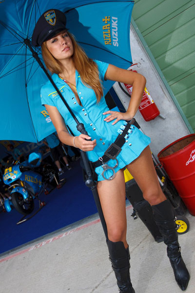 Umbrella Girl Motogp 2018