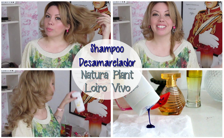 shampoo loiro vivo natura plant, shampoo desamarelador, matizador de cabelo loiro,
