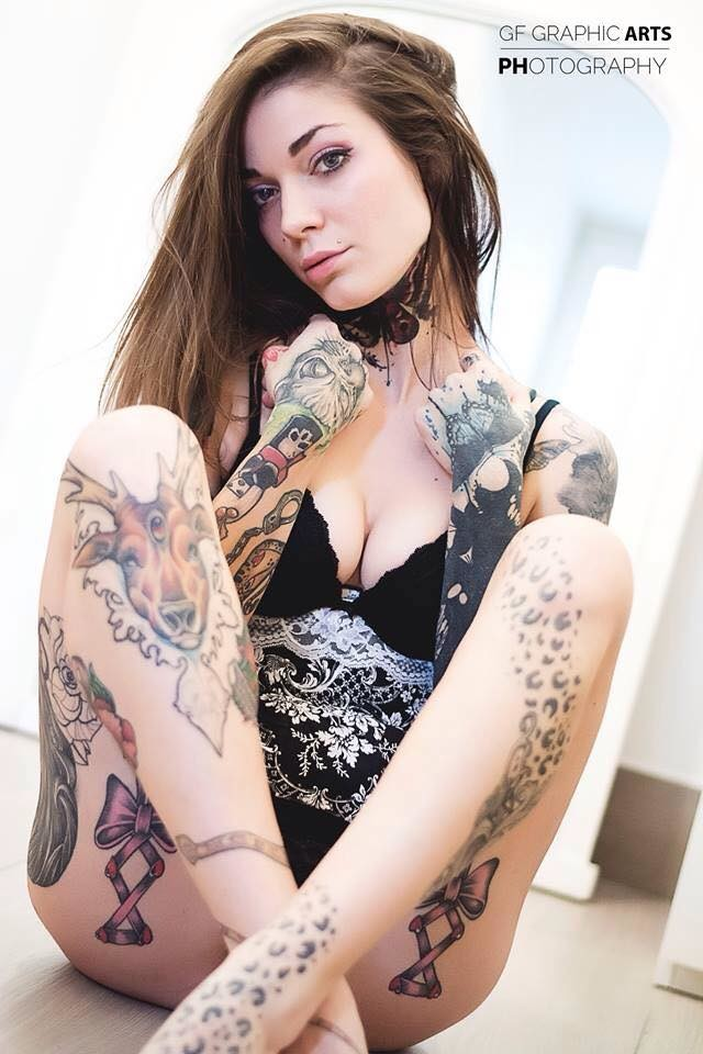 female tattoo model nude
