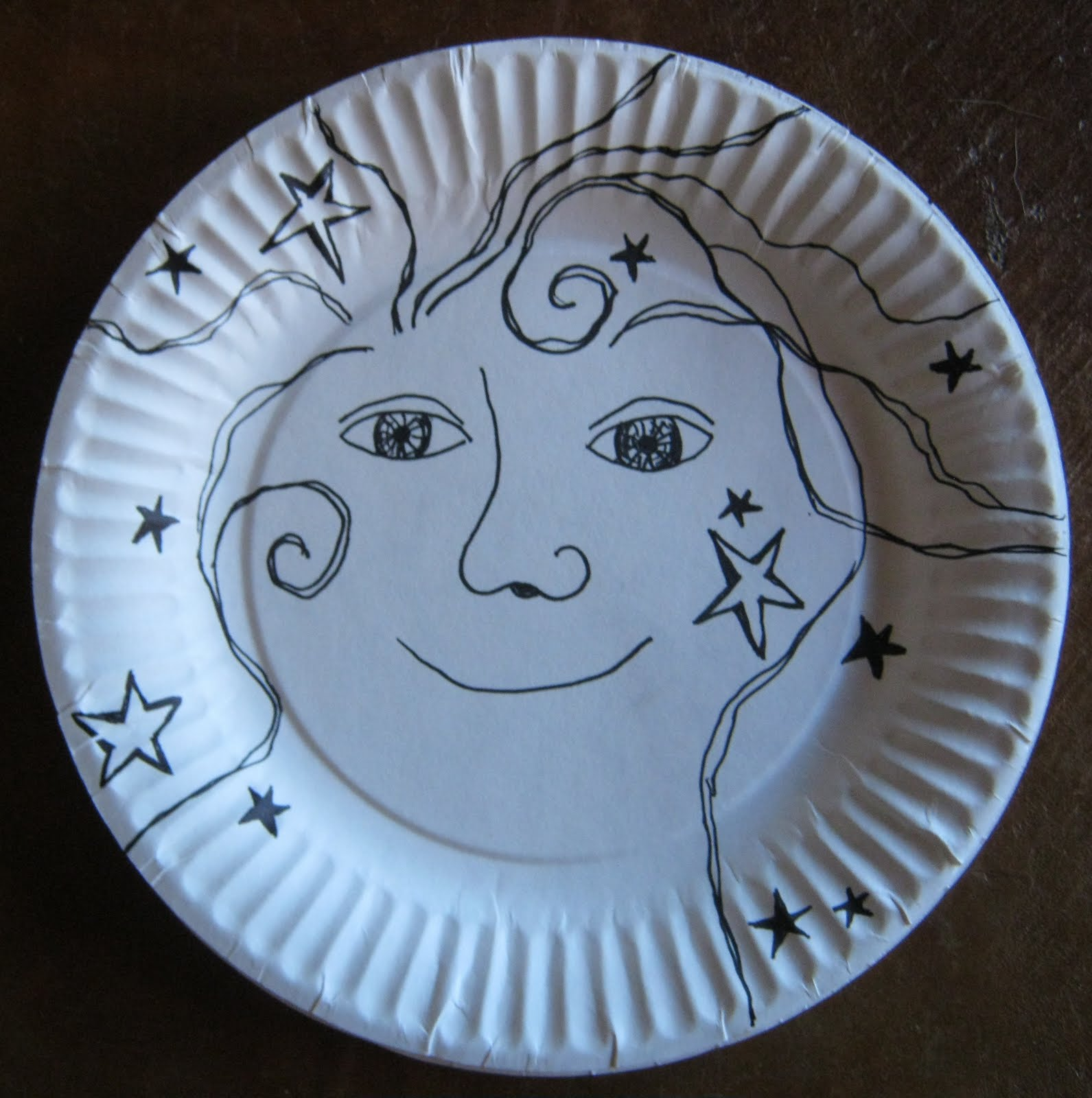 Day 184 Another paper plate drawing & recycle girl