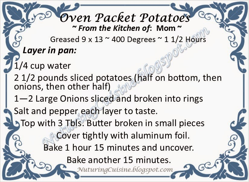 Oven Boy Scouts Packet Potatoes Recipe