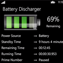 battery discharger windows phone