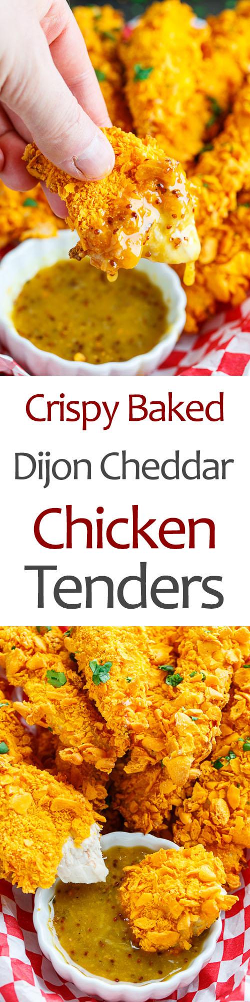 Crispy Baked Cheddar Dijon Chicken Tenders