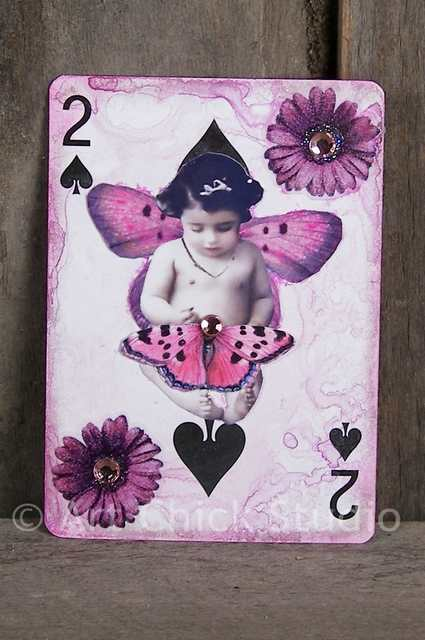 2 of Spades Altered Art ATC