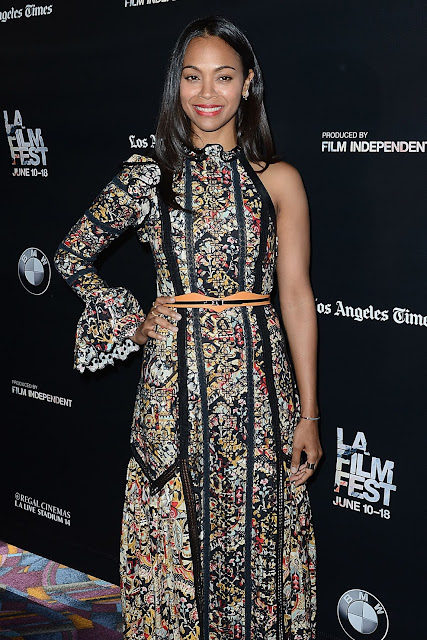 Actress @ Zoe Saldana At Infinity Polar Bear Premiere At La Film Festival