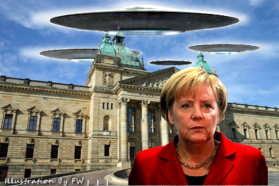 Chancellor of Germany Angela Merkel Forced to Release Secret UFO Files