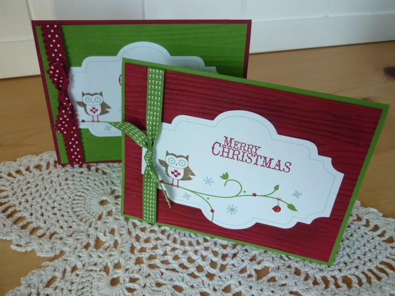 Papercrafts Love Affair Simple Christmas Card Class