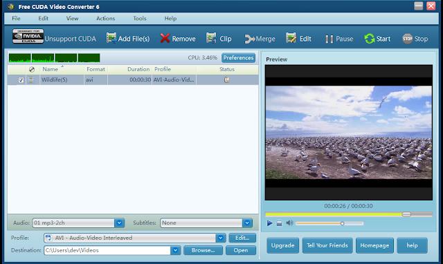 Free CUDA Video Converter 6