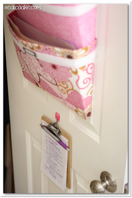 Organizing Ideas for office organization using a DIY mail sorter. #Organization #Office #DIY #Crafts #Sewing #RealCoake