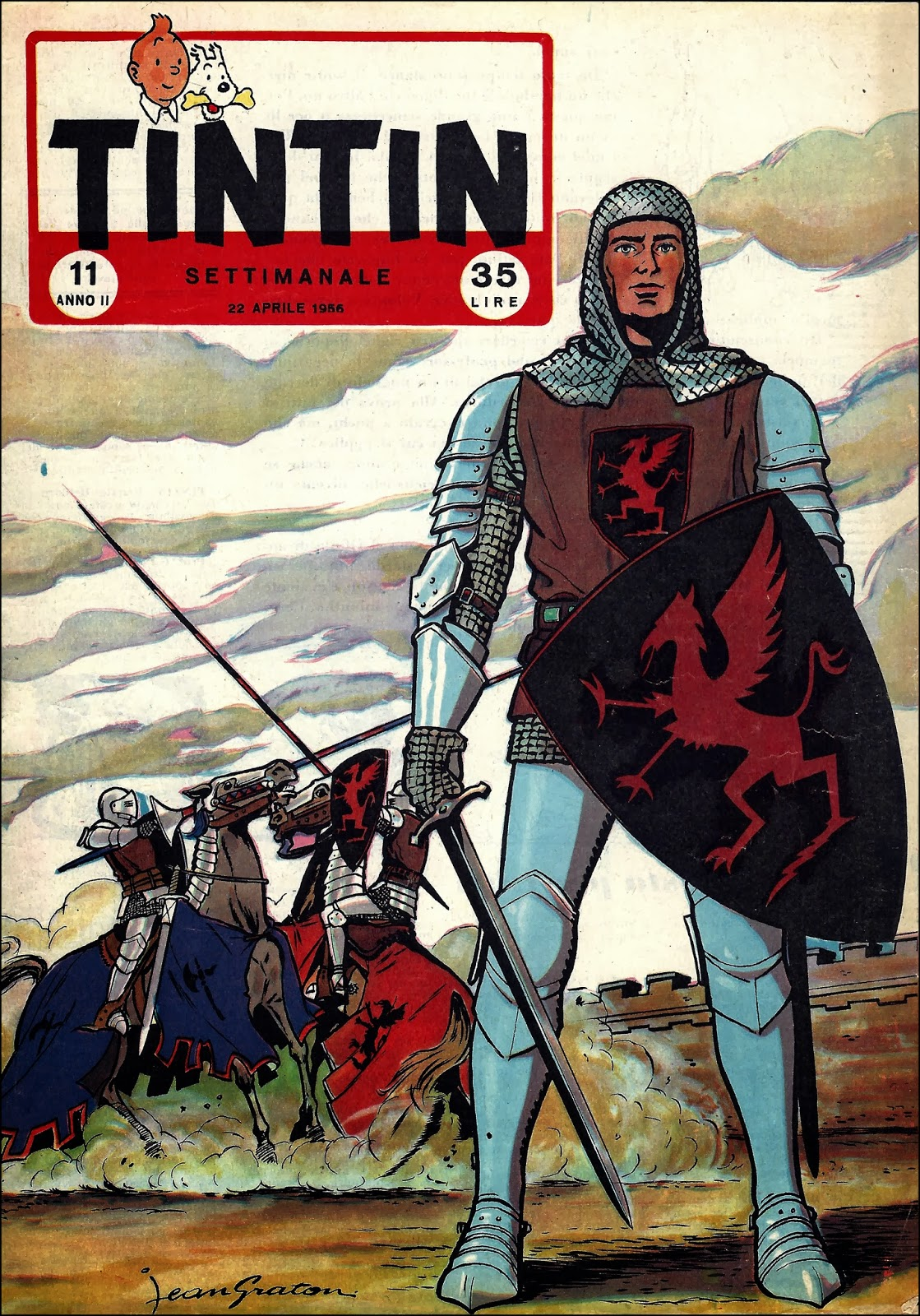 Tintin settimanale vallardi sequenza numeri su