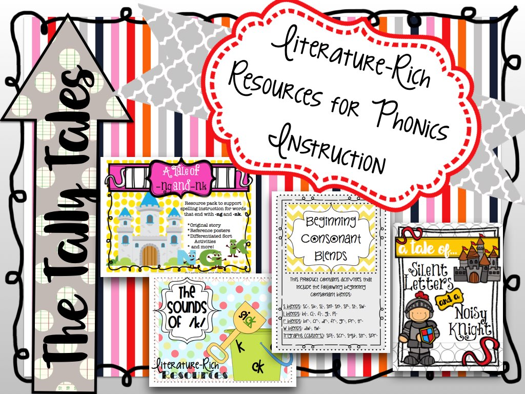 Tally Tales Literature Rich Resources For Phonics Instruction