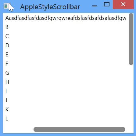 Apple style scrollbar wpf