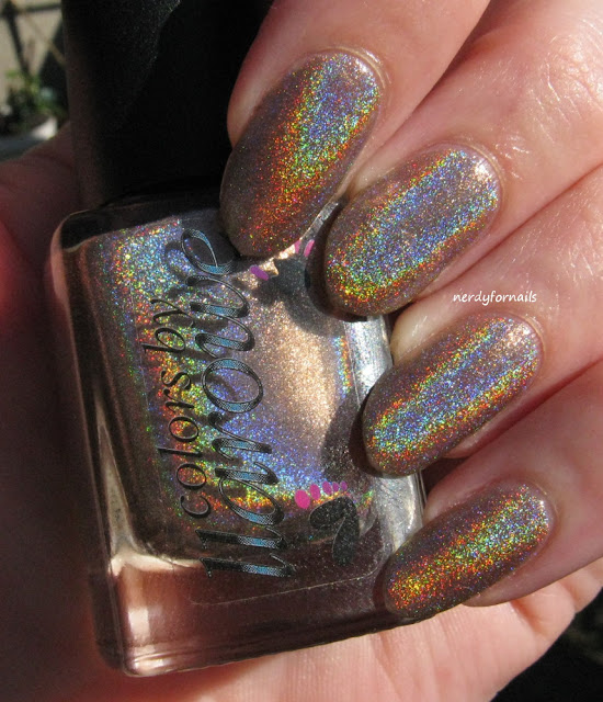 Interview Appropriate Nails CBL Colors By Llarowe Blonde Ambition Super Holo