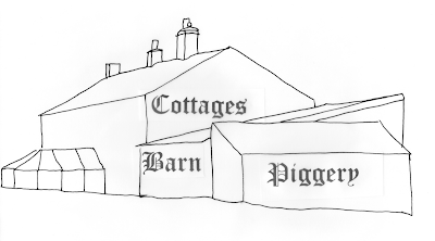 Outline drawing of the existing properties