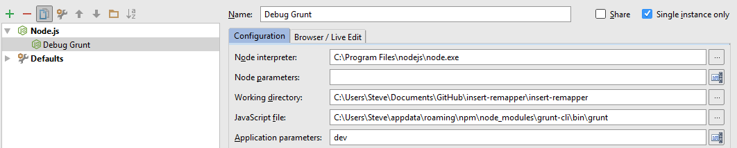 a screenshot of the Run... Edit Configuration window after following this procedure.