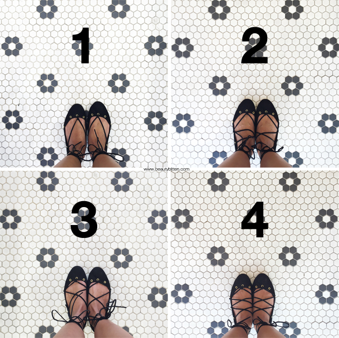 How to tie laced-up flats