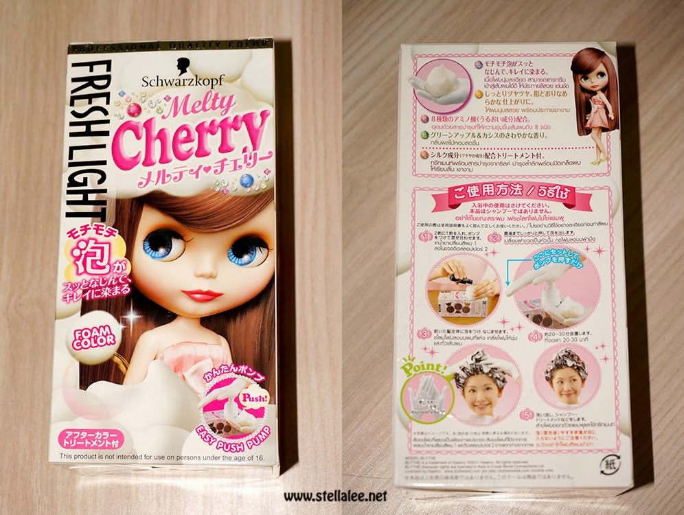 Freshlight Melty Cherry Hair Dye Review Stella Lee Indonesia