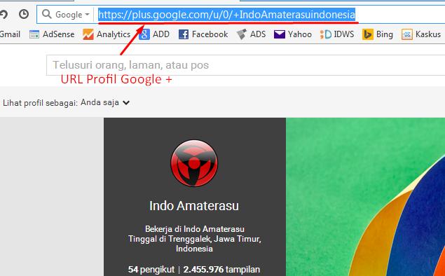 Cara mengetahui URL Google Plus