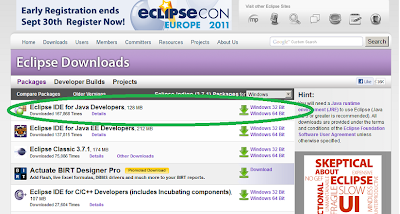 Download Eclipse IDE for Java Developer