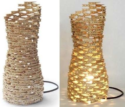 Neo arquitecturaymas manualidades con pinzas - Manualidades con lamparas ...