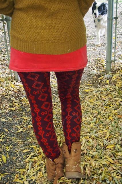 print+leggings+in+maroon - Stepping Stones