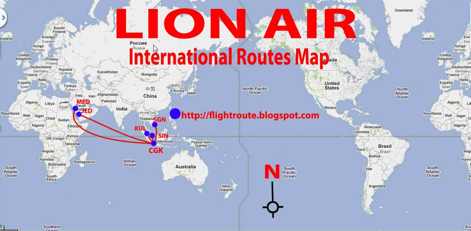 lion air routes map domestic flights
