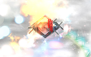 Skrillex 3D Logo Light Effects Design HD Wallpaper