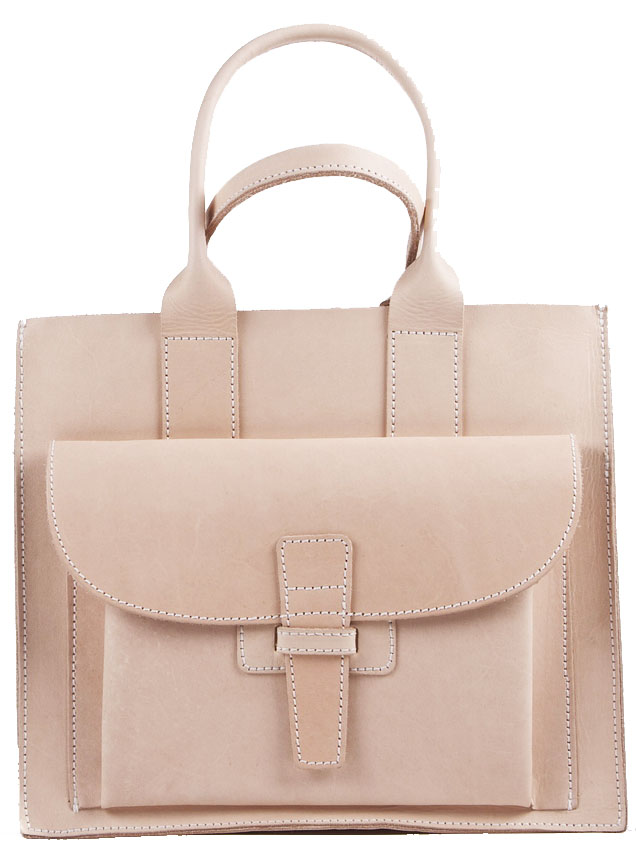 Agnes Baddoo Natural Cow Leather Bag