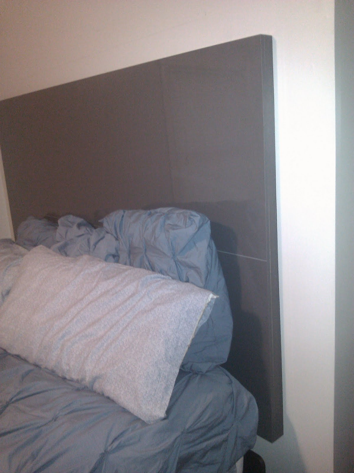 home ikea floating headboard from kitchen cover panels