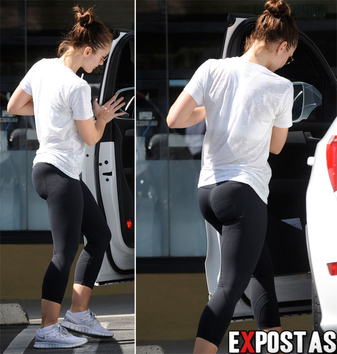 Minka Kelly: Earth Bar/Deixando academia em West Hollywood - 04 de Outubro de 2012