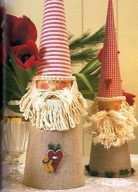 Enfeites de natal com reciclagem de cones de linha