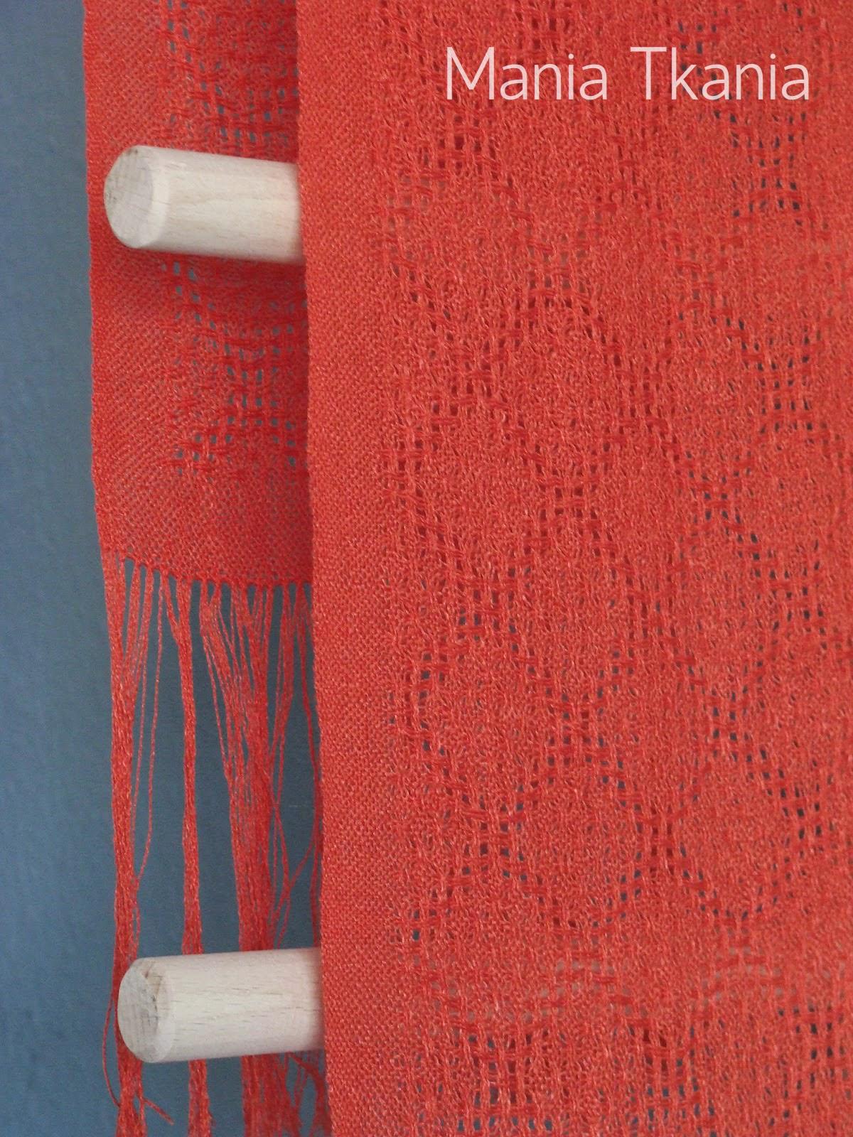 ręcznie tkany szal ażurowy