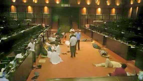 UPFA Members protest in parliament - Updates