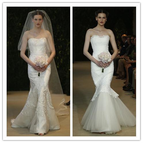 2014 mermaid wedding dress