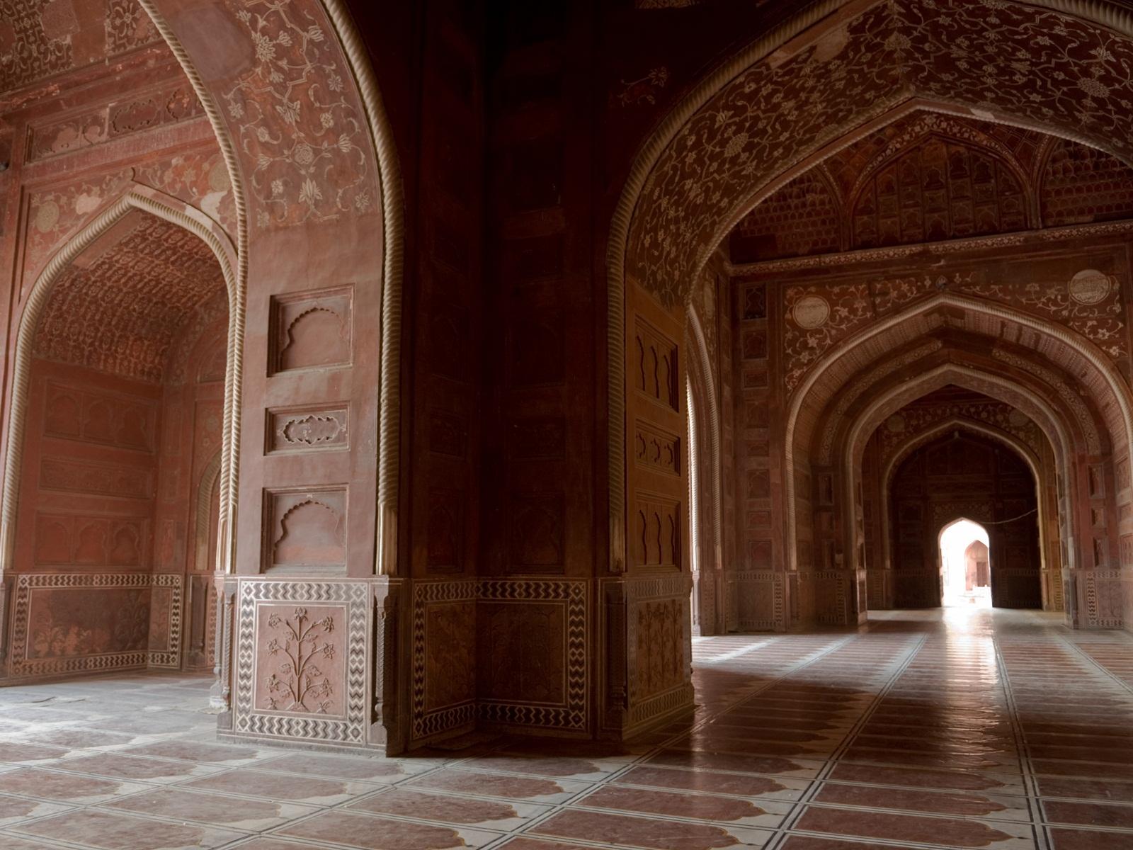 India del norte templo taj mahal taringa for Interior taj mahal