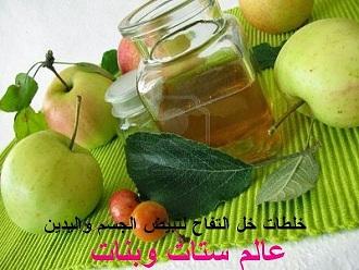 فوائد خل التفاح للبشرة طريقة خل التفاح لتفتيح الجسم و اليدين