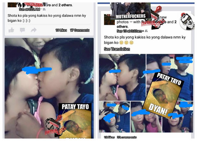 Two unidentified kids kisses each others lips gone viral