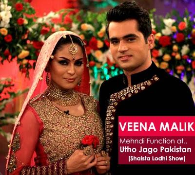 Veena Malik Mehndi at Utho Jago Pakistan