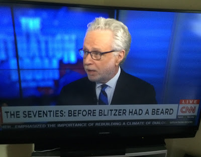 Wolf Blitzer Didn't have a beard in the '70s