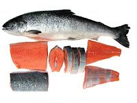 ikan salmon vitamin untuk rambut