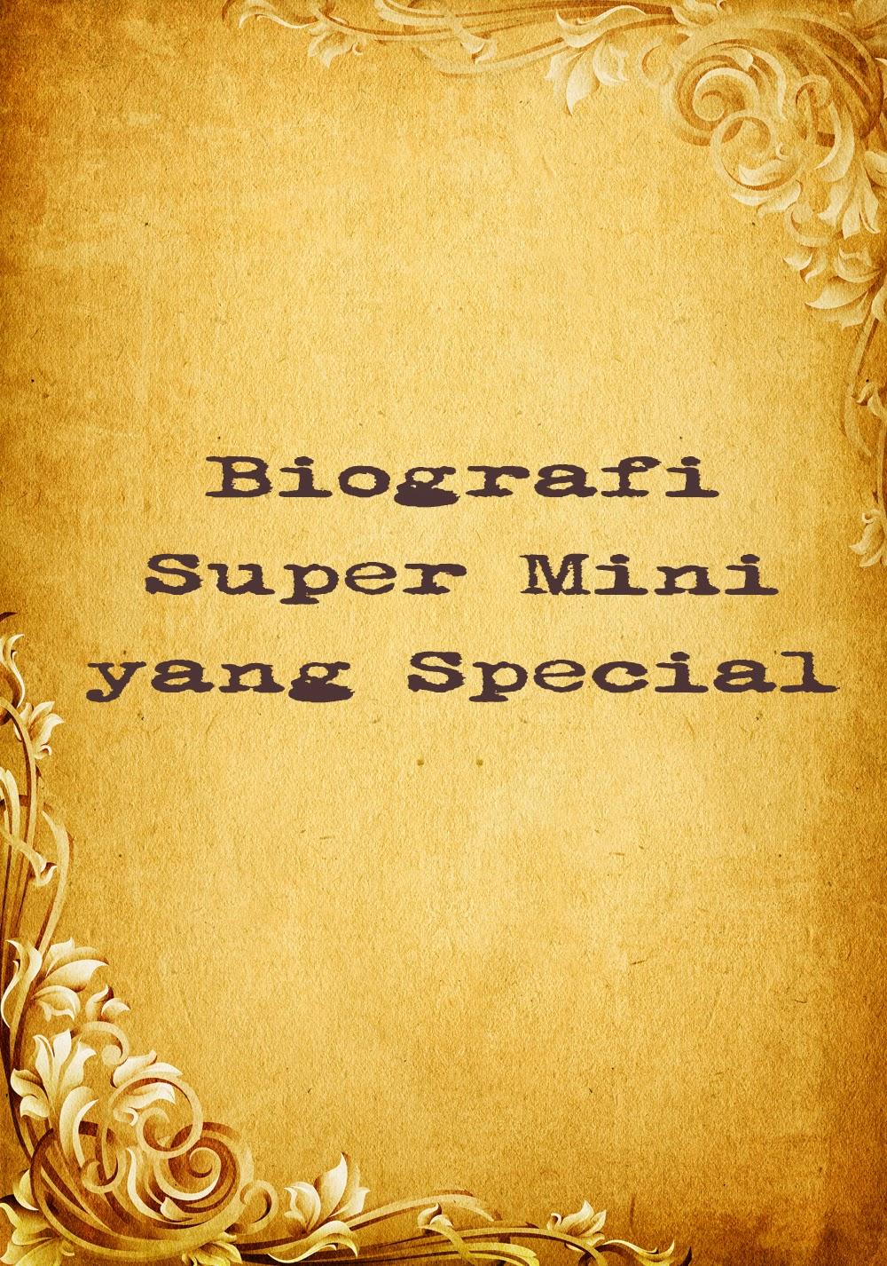 resume  cv adalah biografi super mini yang special