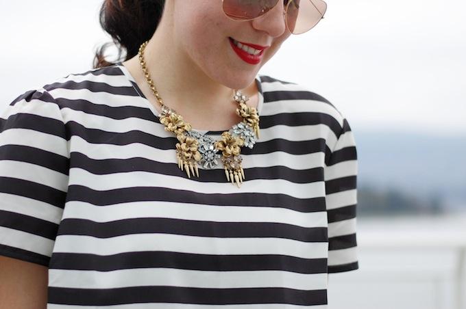 Stella & Dot statement necklace Vancouver fashion blogger