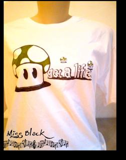mushroom, mario, cogumelo, vida, get a life, presente, camisetas nerd