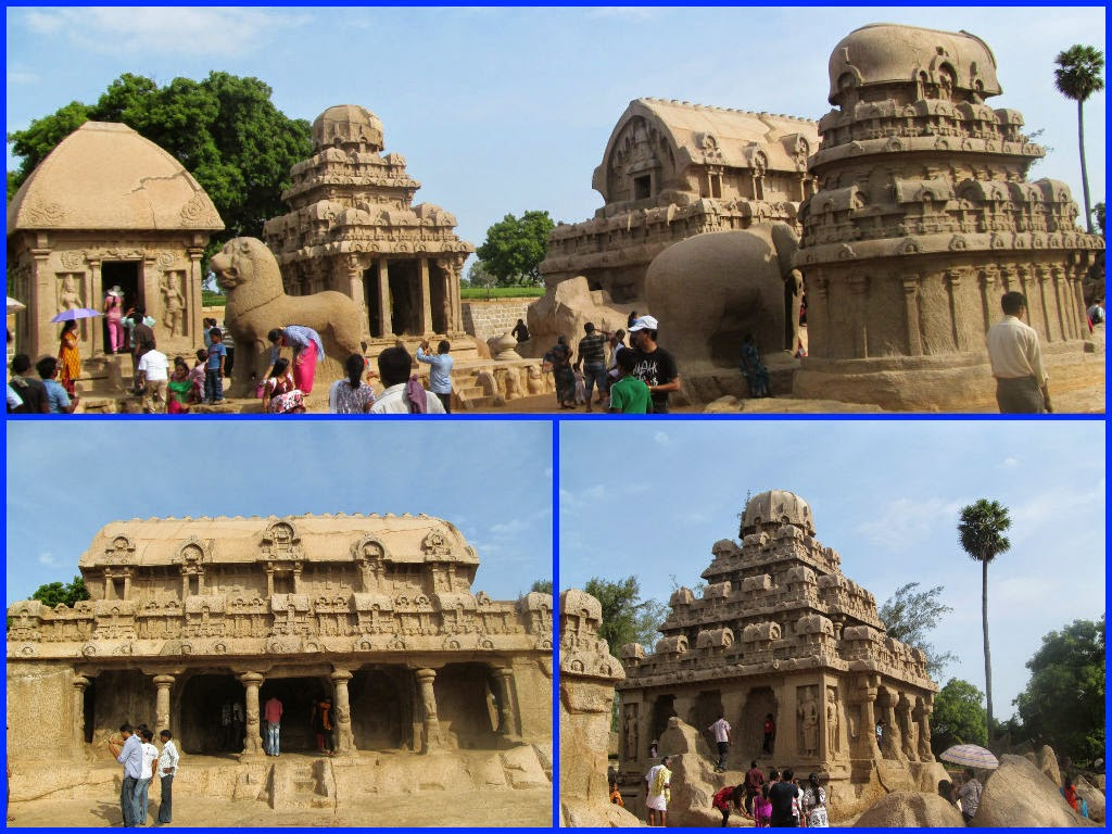 Pancha rathas in Mahabalipuram