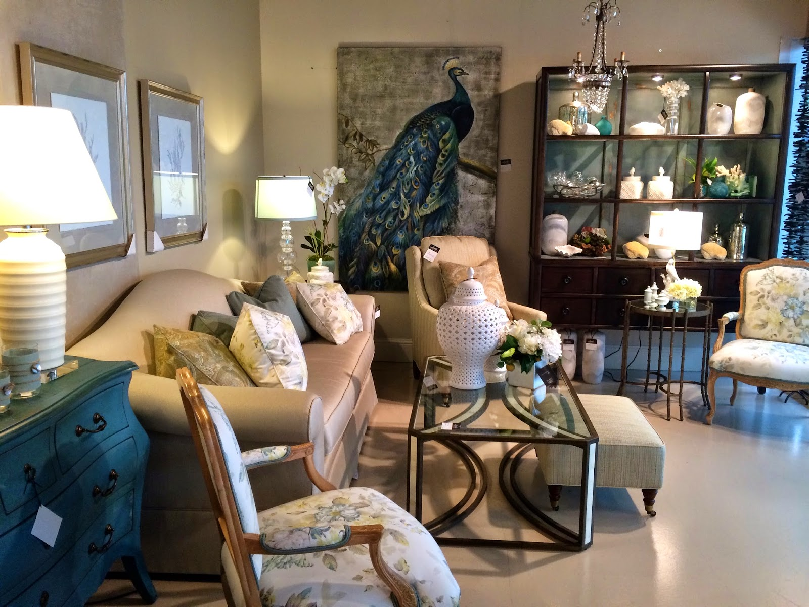Floral Florida Living RoomEmma Courtney  Floral Florida Living Room. Florida Living Rooms. Home Design Ideas
