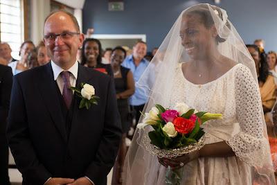 les mariés se disent oui - mairie du Gosier