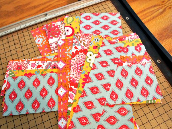 Cutting paper to make medallions for a Summer Fun Wreath with PSA Essentials Stamps.