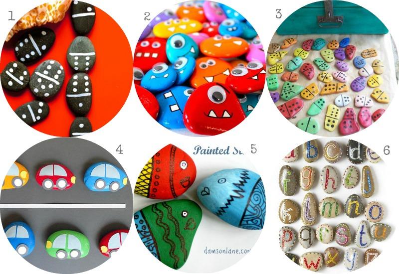 Manualidades piedras pintadas