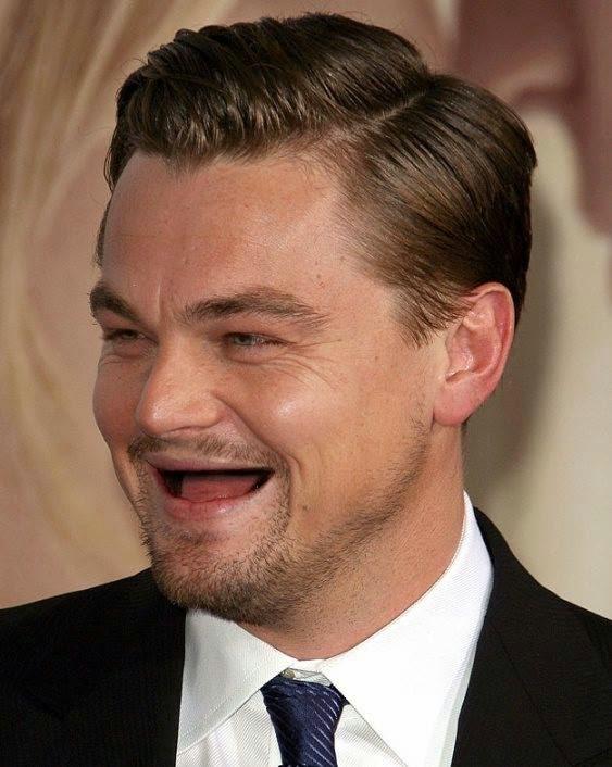 Famosos sin dientes Leonardo Dicaprio