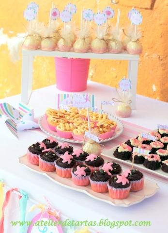 Atelier de tartas mesa dulce cumplea os en la playa for Mesas dulces cumpleanos